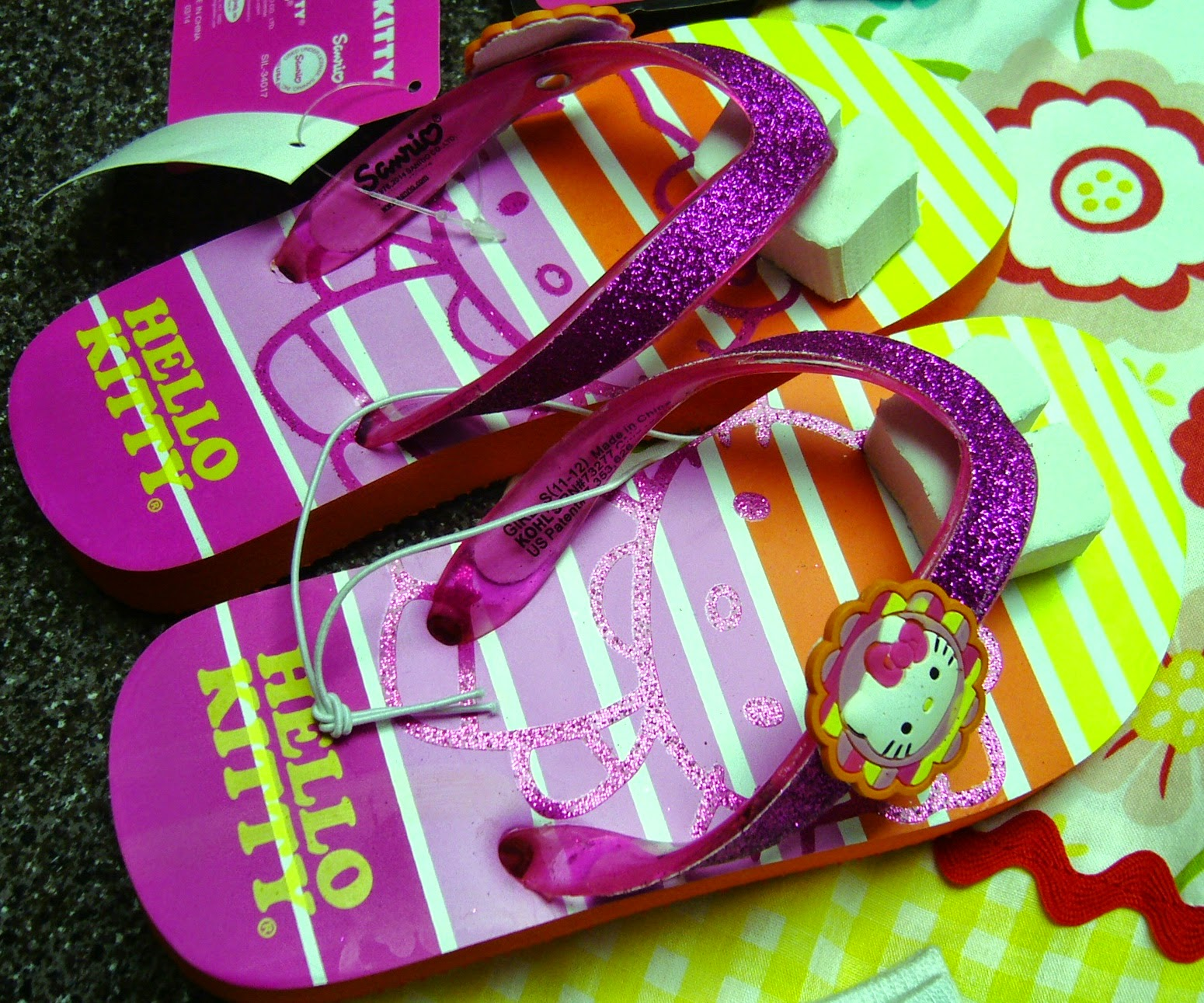 Hello Kitty Themed Operation Christmas Child Shoe Box Gift flip flops