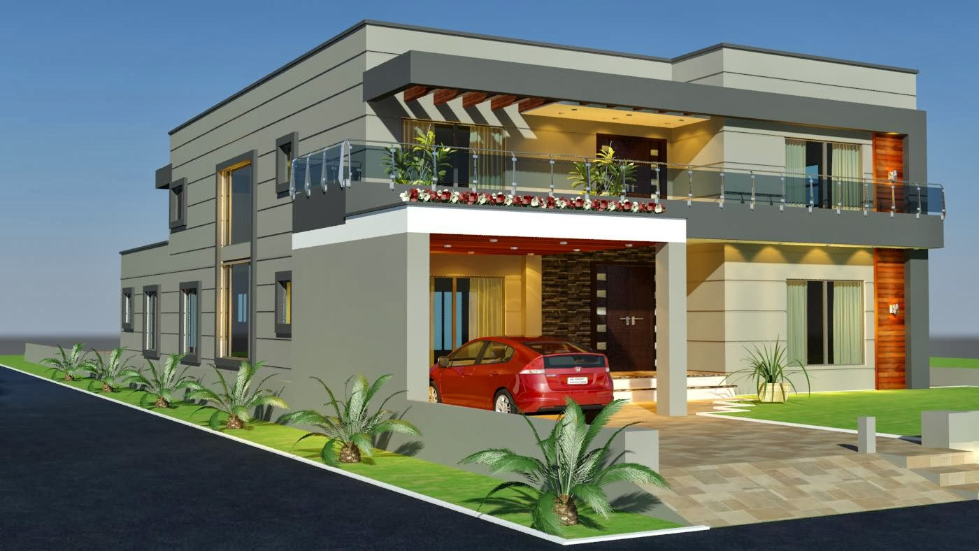 3d Front Elevation Of School : Front elevation of house in pakistan joy studio design