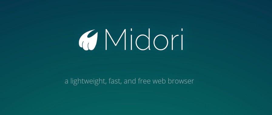 برامج لينكس /// ميدوري _ Midori - على التوزيعات الديبيانية -