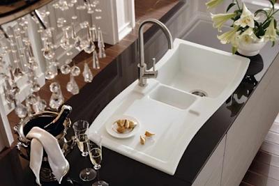 Multi functional Modern White Sink