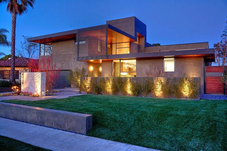Hogares frescos moderna casa de dos pisos con piscina en for Casa moderna flooring