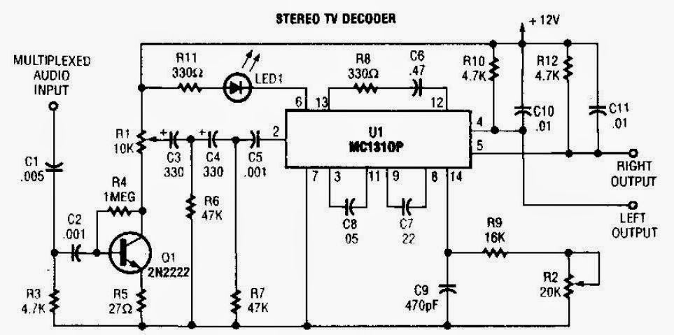Stereo TV Decoder Circuit