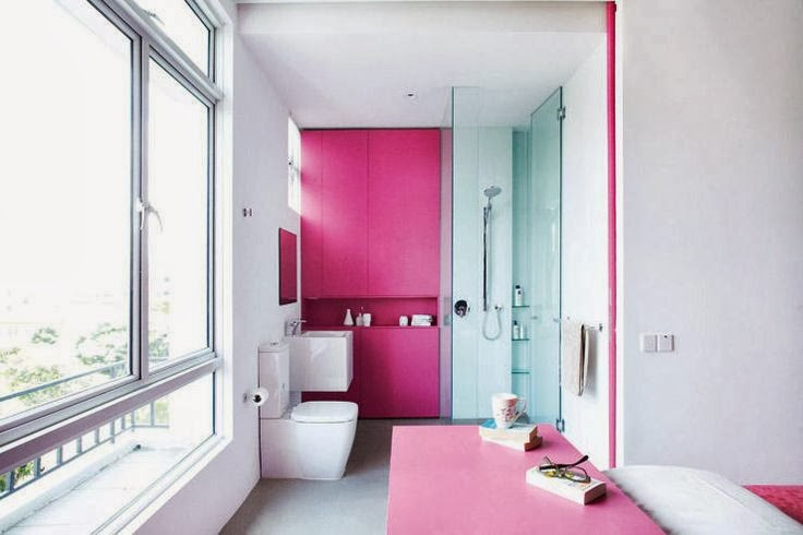 Youll Love This Pretty Pink And White Small Modern Bathroom
