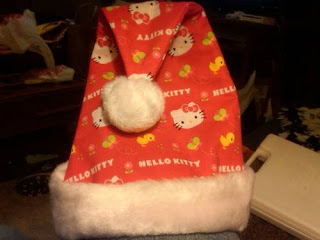 Hello Kitty Santa hat for Christmas and Winter