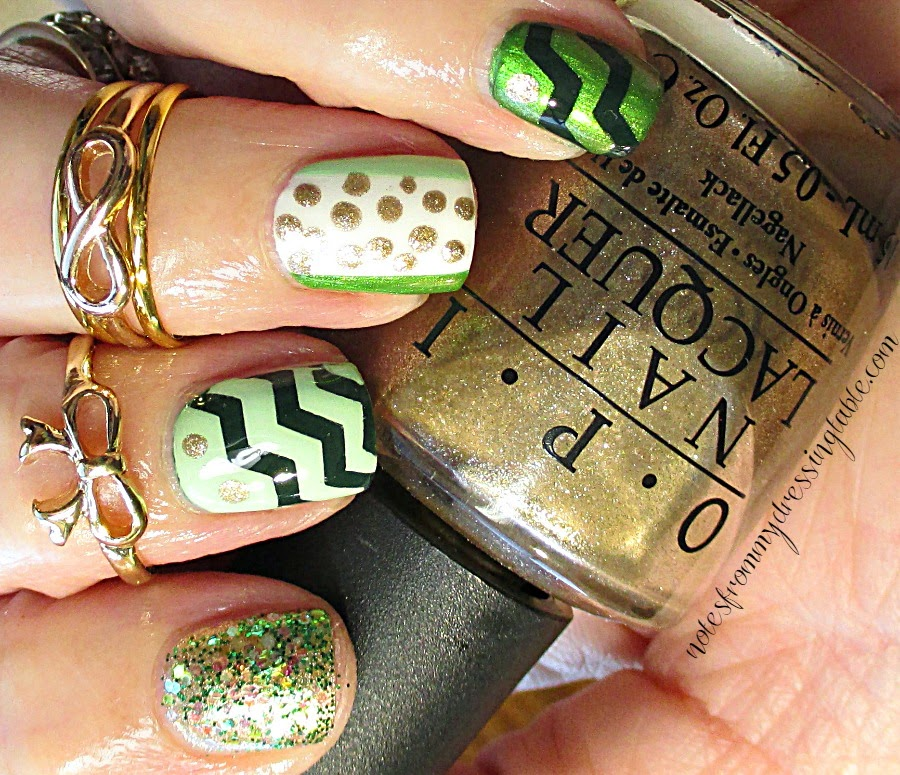 St. Patrick\'s Day Nail Art - Notes from My Dressing Table