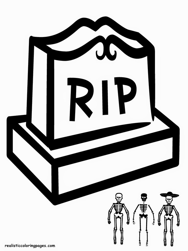 Rest In Peace Halloween Coloring Pages Printable