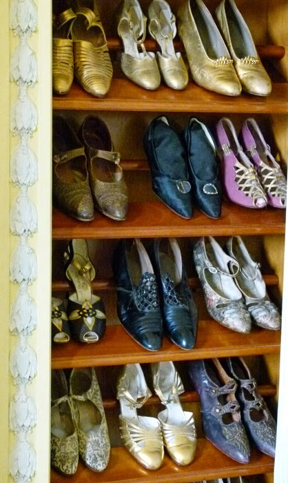 Lady Baillie's shoes, Leeds Castle, a bit about Britain