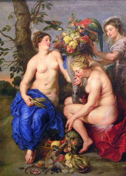 Ceres y dos ninfas de Rubens