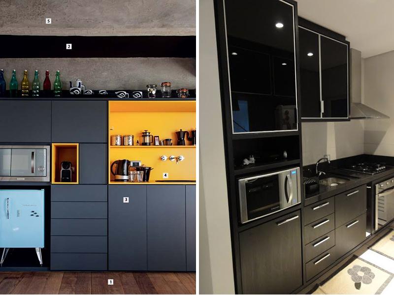 Armario De Cozinha Ribeirao Preto : Preto na decora??o de cozinhas vida louca casada