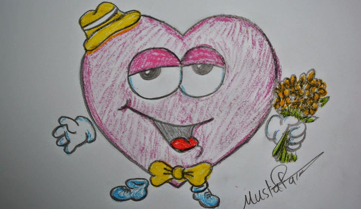 تعليم الرسم كيفية رسم قلب الحب