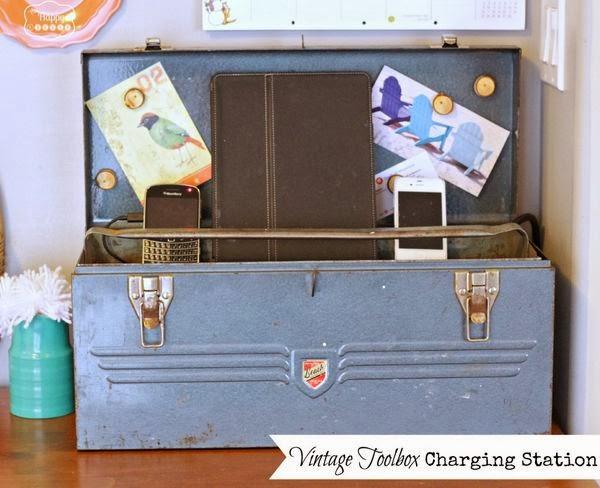 Vintage Toolbox Charging Station