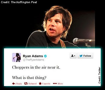 Ryan Adams Tweets California UFO Sighting, Then Deletes Tweets