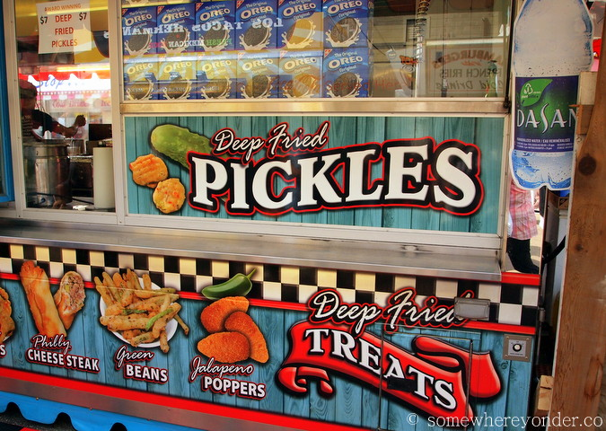Deep fried pickles at the 2015 Calgary Stampede, Canada