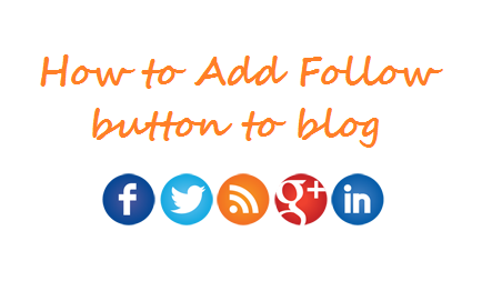 Stylish responsive social follow buttons for blogger