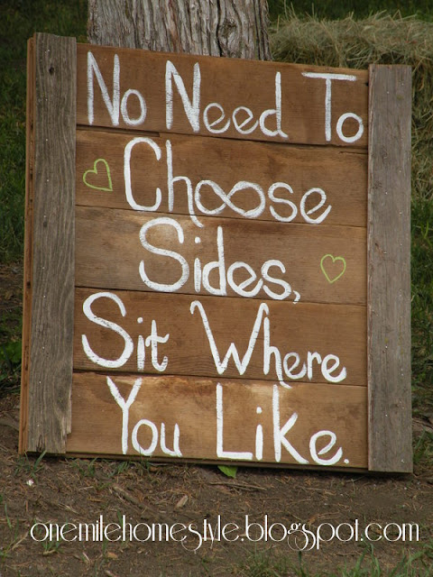 Wedding seating barn board sign