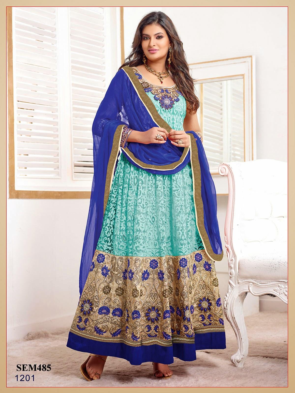 Sayali Bhagat In Designer Net Long Anarkali Suit   Helix Enterprise