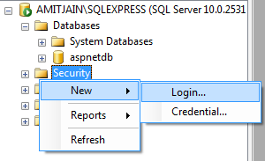 Create New Login In Sql Server