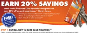 Earn 20% off at BigLots Stores