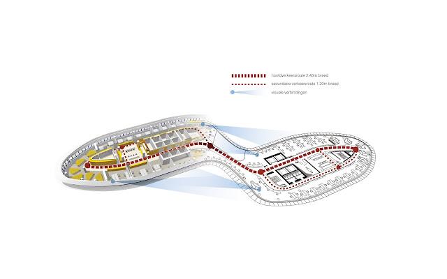 Floor plan of an office building