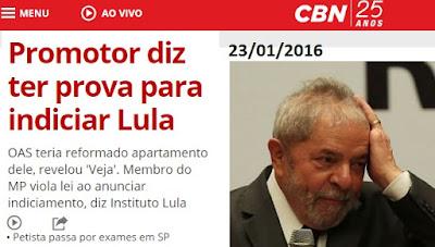 Promotor de São Paulo diz que vai indiciar Lula por lavagem de dinheiro