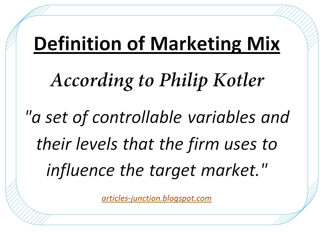 marketing mix of philip kotler Marketing mix (4p's), and the nine p's (9p's) of marketing ©2007 (principles of marketing, 17e, kotler and armstrong, 2018) the aim of marketing is to know and understand the customer so well that the product or service fits him (her/it.