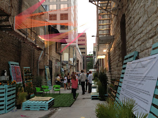 20 ft wide downtown austin alley activation project