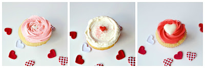 vanilla love cupcakes with white chocolate truffle center