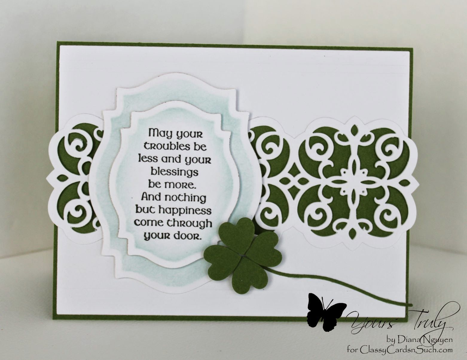 Diana Nguyen, Our Daily Bread Designs, St. Patrick's Day, Mary Border strip, spellbinder