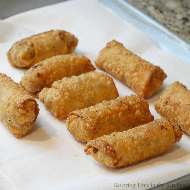 ... Time in the Kitchen: Chinese Egg Rolls for The Year of the Snake