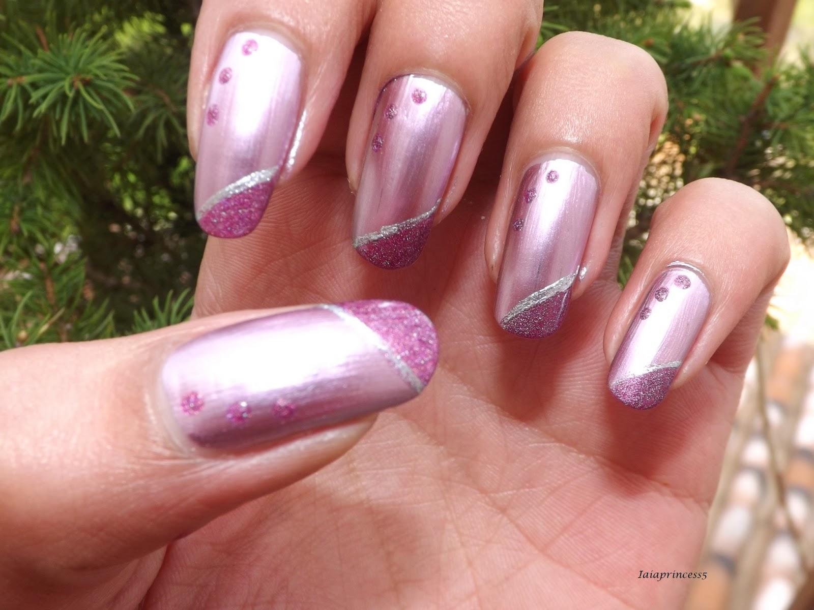 Iaiaprincess5 nail art cosmesi moda nail art effetto - Smalto effetto specchio ...