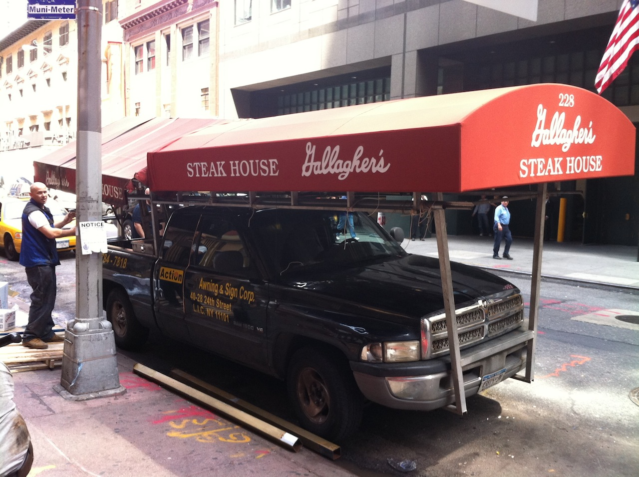 Ev Grieve A New Canopy For Gallagher S Steakhouse Eventually