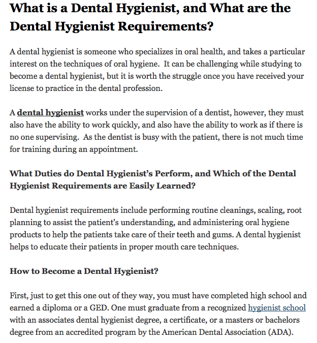dental hygienist 1 Learn clinical practice of the dental hygienist with free interactive flashcards choose from 305 different sets of clinical practice of the dental hygienist.