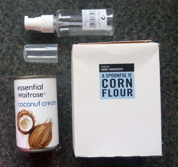 Home made Coconut cleansing milk ingredients