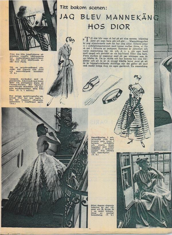 Damernas Värld 1948 Dior