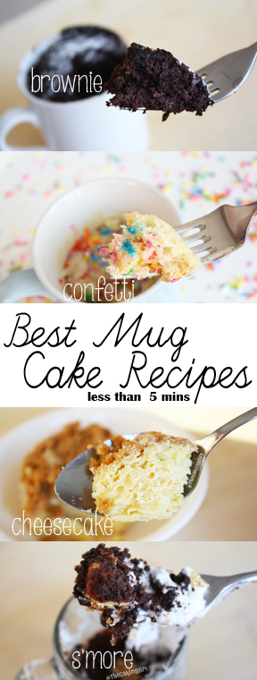 how to make mug cakes, best mug cake recipes