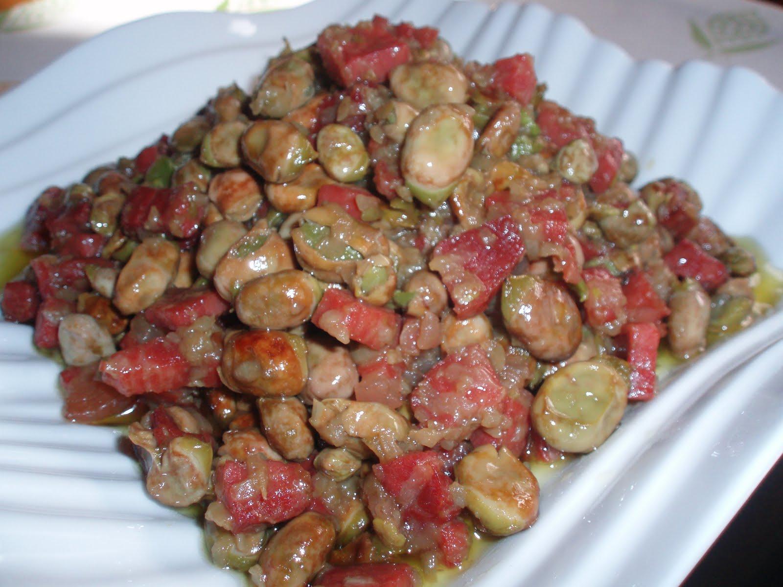 La cocina de deleyn habitas salteadas con jam n ib rico - Habas frescas con jamon ...