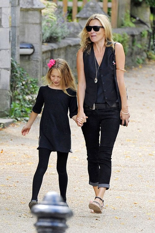Model Sighting: Kate Moss Takes Daughter Lila Grace to ...