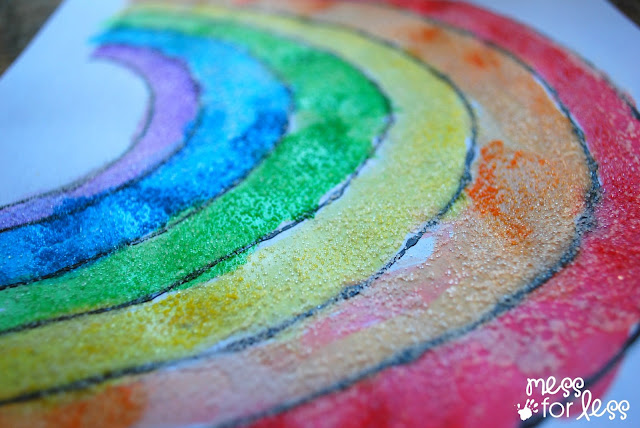 rainbow art project
