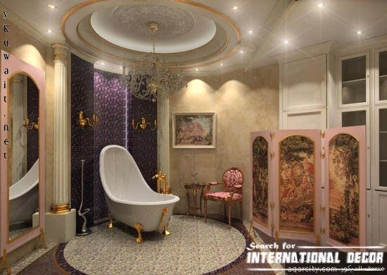 modern bathroom interior design art deco style