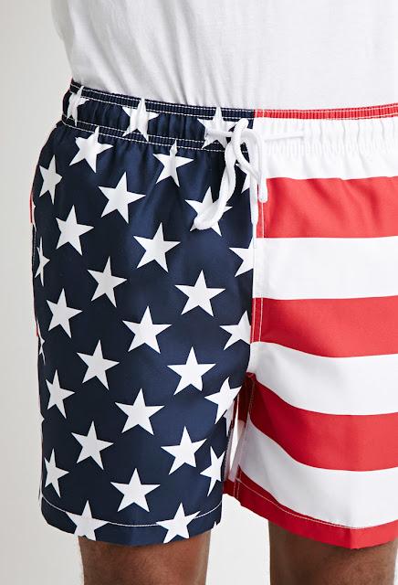 forever 21 short de bain usa flag