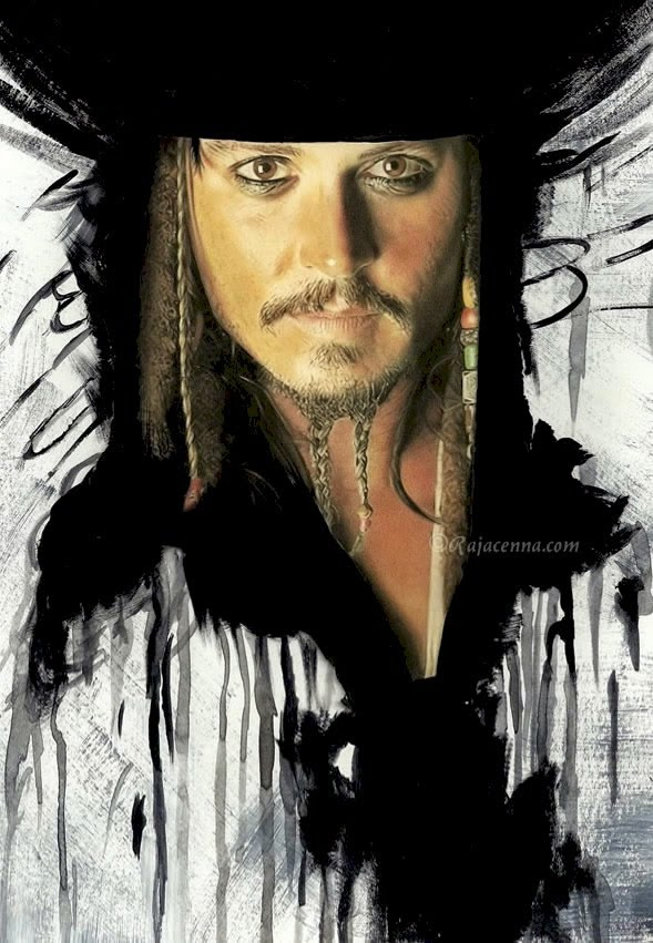 08-Captain-Jack-Sparrow-Rajacenna-Photo-Realistic-drawings-from-a-novice-Artist-www-designstack-co