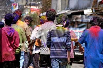 Dry holi in Darjeeling to save water
