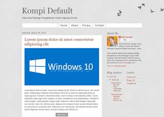 Template Modifikasi Default Blogger Responsif untuk Daftar Adsense
