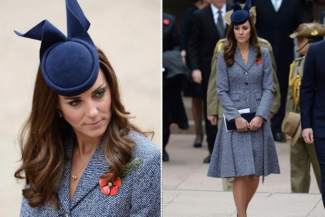 Kate wore a Michael Kors indigo twill coat