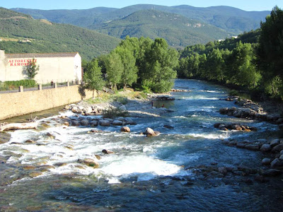 Noguera Pallaresa river passing through Sort