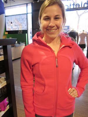 lululemon scuba hoodie jacket in bon bon pink