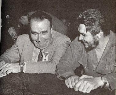 """Enrique Lister junto a Ernesto """"Che"""" Guevara."""