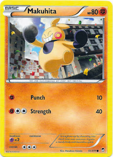 Makuhita Furious Fists Pokemon Card