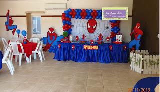 festa decoração homem aranha