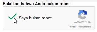 """verifikasi """"saya bukan robot"""""""